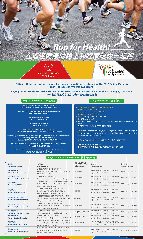 UFH Registration information